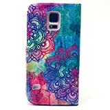 Samsung Galaxy S5 Case, Samsung Galaxy S5 FUNMAL(TM) Fashion Fashion patterns Pattern Wallet Stand Case Cover for with PU Leather and Card Slots