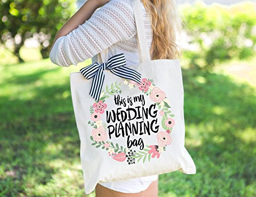 Wedding Planning Tote Bag Gift for Bride to Be, Bridal Shower or Engagement Gift for Bride or Friend Wedding Bag