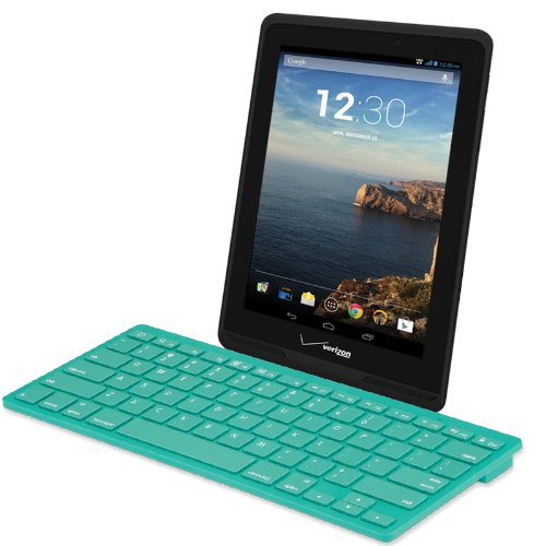 High Grade Ultra Thin Wireless Bluetooth Keyboard For Verizon Ellipsis 7 Inch Tablet With On / Off Switch - Green