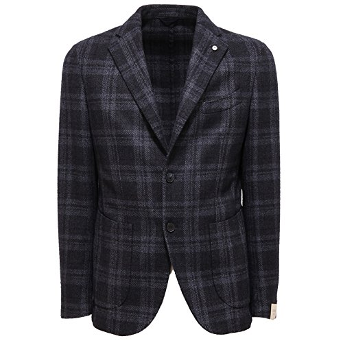 9091Q giacca uomo L.B.M. 1911 TAILORED slim fit blu jacket coat men [50 R]