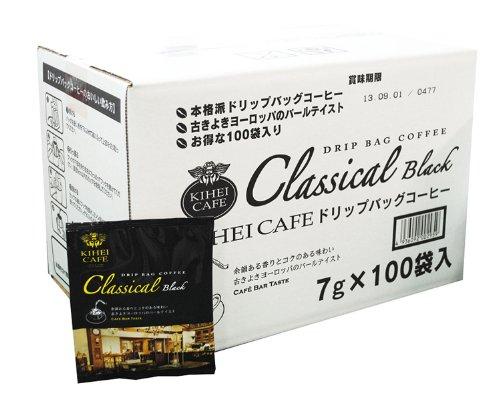 KIHEI CAFE ドリップバッグコーヒー クラシカルブラック 7g×100袋