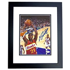 Dominique Wilkins Autographed Hand Signed Atlanta Hawks 8x10 Photo - BLACK CUSTOM... by Real Deal Memorabilia