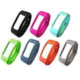 i-smile® Replacement Bands with Metal Clasps for Garmin Vivofit(No tracker, Replacement Bands Only) (Set of 7, Large)