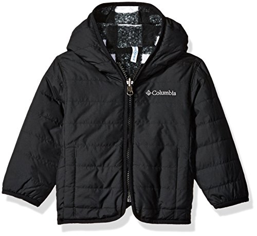 Columbia Baby Boys' Double Trouble Jacket, Black Plaid, 12-18 Months