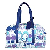 Coach Kyra Signature Optic Print Travel Duffle 77297 Blue Multicolor