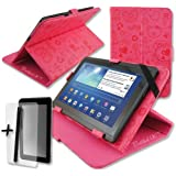 Luxury Cute Pink Case Cover Stand for CAMBRIDGE SCIENCES StarPAD 7SE 7'' 7 Inch Android Tablet Pc + Screen Protector + Stylus Pen