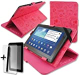 Cute Pink PU Leather Case Cover Stand for Intenso 8 Tab 814 8