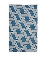 SAFAVIEH Alfombra Durhurst Indoor/Outdoor (Azul)