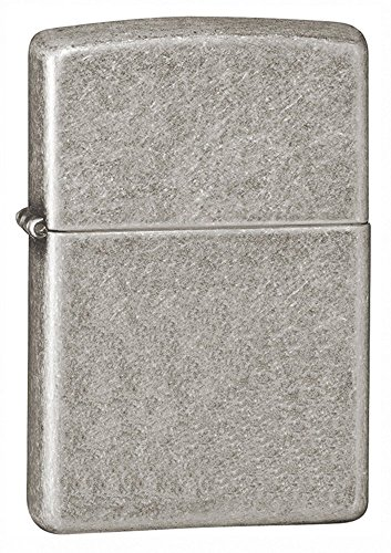 Zippo Armor Pocket Lighter, Antique Silver Plate