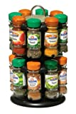 Premier Housewares 2- Tier Spice Rack with 16 Schwartz Spices - Black