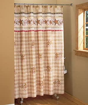 Alfa img Showing Country Shower Curtains for the Bathroom