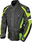 Joe Rocket Ballistic Revolution Men's Textile Sports Bike Motorcycle Jacket – Black/Hi-Viz Neon / 3X-Large by Leather Factory Outlet