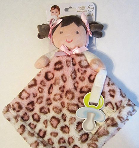Blankets & Beyond Baby Girl Security Blanket and Pacifier Holder