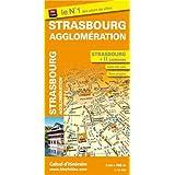 Plan de ville de Strasbourg et de son agglomération - Echelle : 1/10 8000