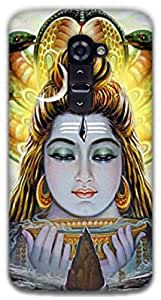 The Racoon Lean Shiva hard plastic printed back case / cover for LG G2