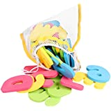 Click N' Play Bath Foam Letters & Numbers with Mesh Bath Toys Organizer, 36 Count
