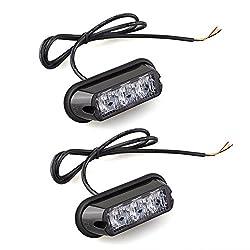 See 2x 3W High Power Waterproof 3 LED Car Truck Emergency Strobe Flash Light Yellow Details