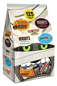 Hershey's Halloween Assortment (Hershey's, Whoppers, Almond Joy, Reese's Gift Bag), 51.42-Ounce Bag