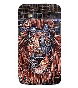 Animated Lion 3D Hard Polycarbonate Designer Back Case Cover for Samsung Galaxy Grand i9080 :: Samsung Galaxy Grand i9082