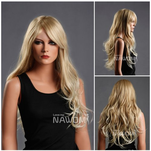 Barbie wig - Long Wave Hair Wig, Golden blonde color.