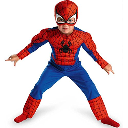 Spiderman Toddler Size: 3T-4T (Red/Blue) front-1017450