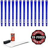 Boccieri Golf Secret Grip Kit With Tape, Solvent And Vise Clamp (13-Piece), Blue