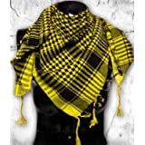 Generic Tactical Desert Shemagh Arab Keffiyeh Neck Scarf Yellow (Color: Yellow, Tamaño: One Size)