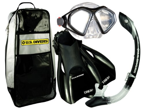 U.S.Divers Admiral Lx / Island Dry Lx / Trek / Travel Bag (Black, Fin Size 7-10)