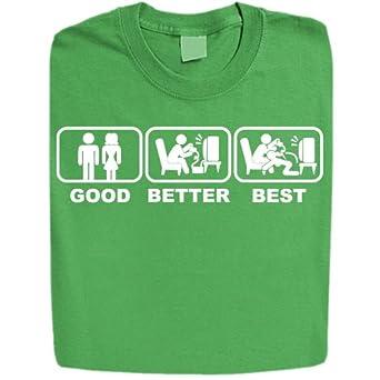 Stabilitees Funny Printed Good Better Best Design Mens T