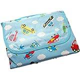 Baby Kid Large Summer Beach Playmat Picnic Camping Feeding Activity Mat Floor Protector - Light Blue Transport