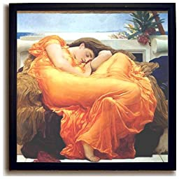 Flaming June by Leighton Black-Framed Canvas (Ready-to-Hang)