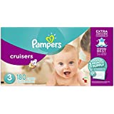 Pampers Cruisers Diapers, Size 3, One Month Supply, 180 Count