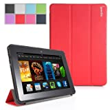 Poetic Slimline Case for New Kindle Fire HDX 7 (2013) 7inch Tablet Red (With Smart Cover Auto Sleep / Wake Feature) (3 Year Manufacturer Warranty From Poetic)