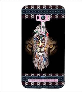 PrintDhaba Tiger face D-5665 Back Case Cover for ASUS ZENFONE SELFIE ZD551KL ULTRA (Multi-Coloured)