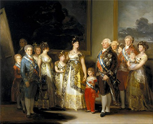 Oil Painting 'Goya Y Lucientes Francisco De The Family Of Carlos IV Ca. 1800 ' Printing On Perfect Effect Canvas , 24 X 30 Inch / 61 X 75 Cm ,the Best Kids Room Decoration And Home Decoration And Gifts Is This Vivid Art Decorative Prints On Canvas