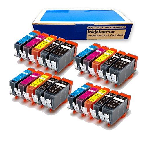 Inkjetcorner Compatible 20 Pack Ink Cartridges for CANON PGI-250XL CLI-251XL Pixma MX922 MG5520 MG6420 MG5420 Photo Printer (Ready to Use)