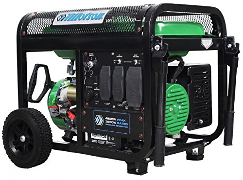Tillotson 4500w Portable Generator Dual Fuel with Wheel Kit