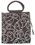 Jute Cottage Women's Tote Bag (Black) (RPC-3076-bag)