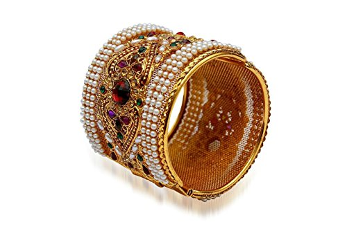 Youbella Multicolor Gold Plated Kaada Bangle For Women