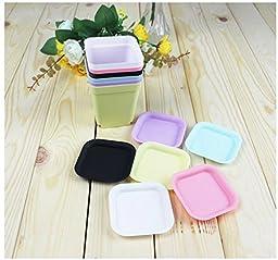 2 pcs Hot Sale Plastic Flower Pot Square Pots For Colors For Home Decor Nursery Tray Wholesale/Retail