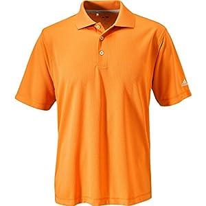Adidas 2014 Men's ClimaLite Short Sleeve Solid Polo (Light Orange - L)