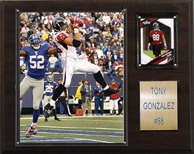 NFL Tony Gonzalez Atlanta Falcons Player Plaque