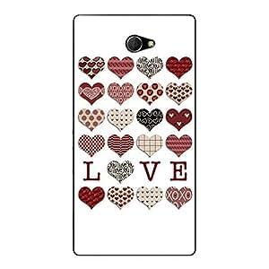 Jugaaduu Hearts Back Cover Case For Sony Xperia M2