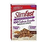 SlimFast Advanced Nutrition 100 Calorie Snacks, Drizzled Crisps, S'mores, 5 Count