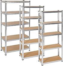 TecTake Estantería metálica garaje unidad de almacenamiento - varias tamaños -
