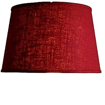 upgradelights red linen fabric floor or table lamp drum lampshade. Black Bedroom Furniture Sets. Home Design Ideas