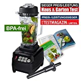 JTC OmniBlend V - Special Edition - 5 Jahre Garantie - versandkostenfrei - 2,0 Liter BPA-frei (schwarz)
