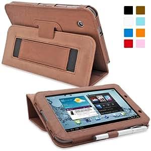 Snugg™ - Étui Pour Samsung Galaxy Tab 2 7.0 - Housse Avec Support Pied Et Une Garantie à Vie (En Cuir Marron) Pour Samsung Galaxy Tab 2 7.0