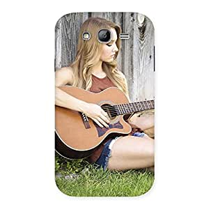 Impressive Girl Guitar Back Case Cover for Galaxy Grand