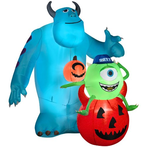 Gemmy Inflatable Mike and Sulley Outdoor Halloween Disney Decoration